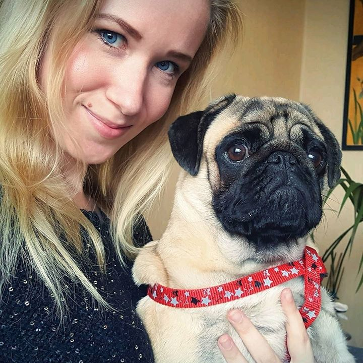 Adorable Arthur the Pug with his Mom